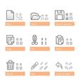 universal software icon set standart part vector image