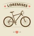 vintage bicycle logo or print design vector image vector image