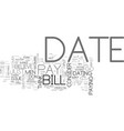 who should pay for our date text word cloud vector image vector image