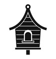 wood bird house icon simple style vector image vector image