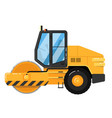 yellow road roller isolated on white background vector image