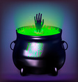 Halloween Witches Cauldron Drawing vector image