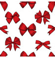 hand drawn bows seamless pattern vector image