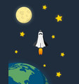 space shuttle launched from earth and flying in vector image