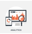 Analytics vector image