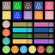 Avatar icon sign Set from twenty seven vector image vector image