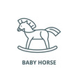 bahorse line icon bahorse outline vector image vector image
