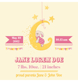 bashower or arrival card vector image vector image