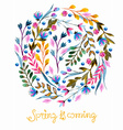 Beautiful colorful flowers Watercolor painting vector image vector image
