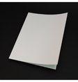 Blank page template for design layout 3d vector image vector image