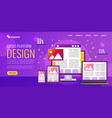 bright for design landing page vector image vector image