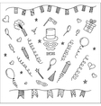Carnival symbols collection - party decorations vector image
