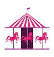 carousel circus carnival vector image vector image