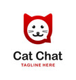 cat chat logo vector image