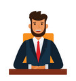 chairman of the board cartoon flat vector image