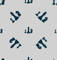 chess Game icon sign Seamless pattern with vector image