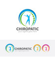 chiropractic center logo design vector image