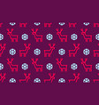 christmas pattern background seamless deer vector image