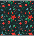 christmas seamless pattern and abstract background vector image