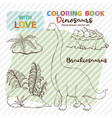 coloring page antistress brachiosaurus and vector image vector image