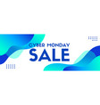 cyber monday sale banner template trendy vector image vector image