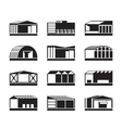 Different Industrial warehouses vector image vector image