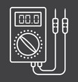 digital multimeter line icon build and repair vector image