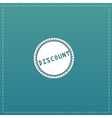 Discount Icon Badge Label or Sticker vector image vector image