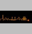 duisburg light streak skyline profile vector image vector image