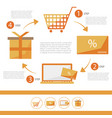 e-commerce infographic flat set - discount card vector image