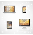 Electronic devices realistic vector image vector image