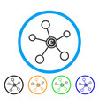 euro network rounded icon vector image vector image