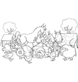 Farm Animals for coloring vector image vector image