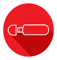 Flat Icon of USB flash drive Modern flat icons vector image vector image