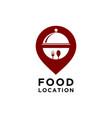 food location logo template vector image vector image