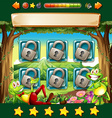 Game template with frogs in jungle vector image vector image