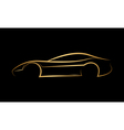 Golden abstract car logo vector image vector image