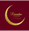 golden glitter eid moon ramadan kareem background vector image vector image