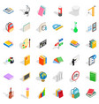 good education icons set isometric style vector image vector image