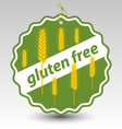 green gluten free wheat stamp tag label vector image vector image