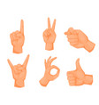 hands deaf-mute gestures human pointing arm people vector image vector image