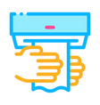 hands wipe paper napkin icon outline vector image