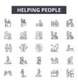 helping people line icons for web and mobile vector image vector image