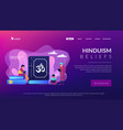 hinduism concept landing page vector image vector image