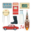 isolated collection of historical landmarks vector image