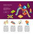 isometric playground template vector image vector image