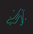 ladies sandal icon design vector image vector image