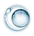 Large water droplet with rings vector image vector image