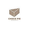 logo choco pie bakery fresh pastry chocolate vector image