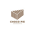 logo choco pie bakery logo fresh pastry chocolate vector image